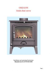 Arizona 8kW Oregon Multifuel Stove